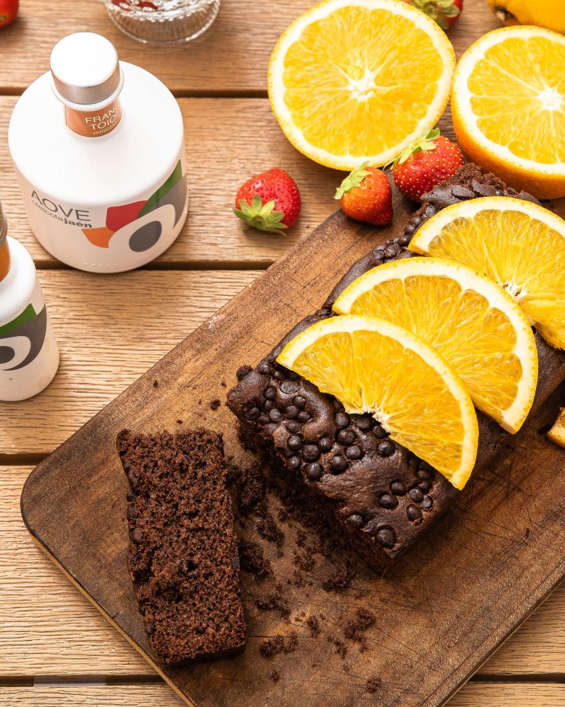 Brownie de chocolate con naranja