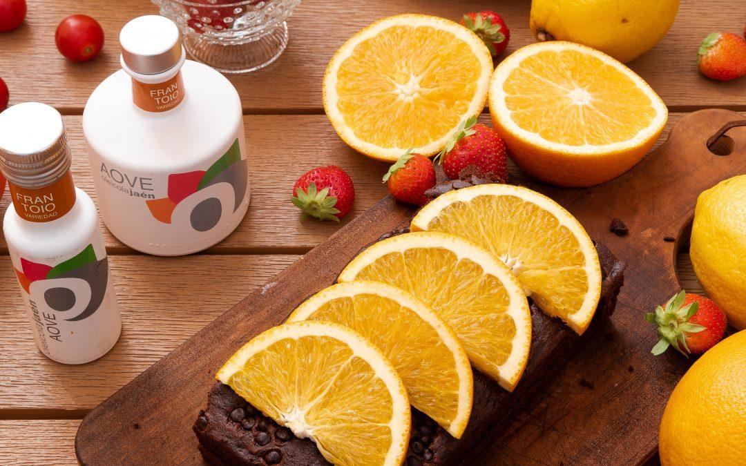 Brownie de chocolate con naranja y AOVE Frantoio